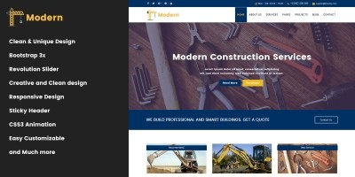 Modern - HTML5 Construction Business Template