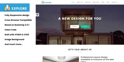 Explore - Architecture HTML Template