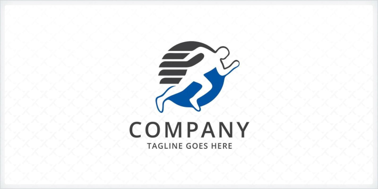 Runner Sport Logo Template