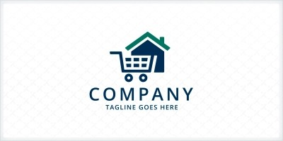 Home Cart Logo Template