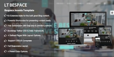 LT Bespace -  Coworking Spaces Joomla Template