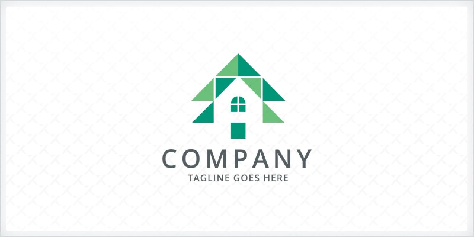 Pine Tree House Logo Template