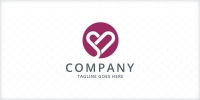 Heart - Letters SN Logo Template