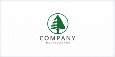 Pine Tree Logo Template