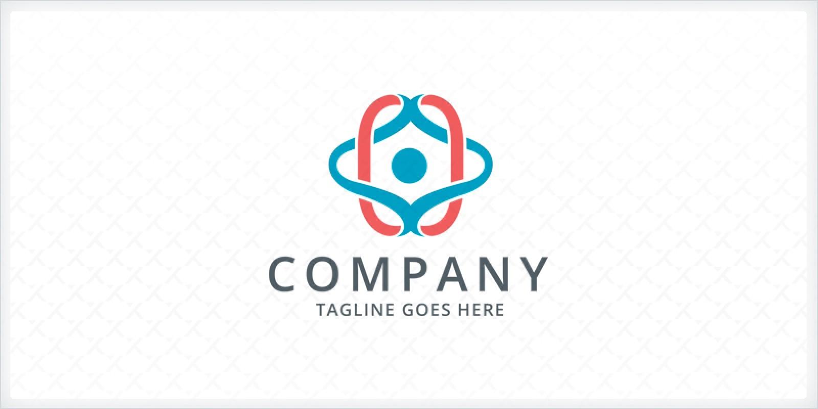 People Yoga Logo Template