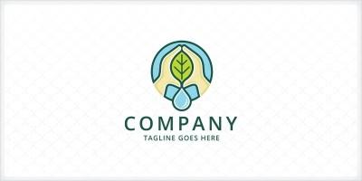 Hydroponics Farming Logo Template