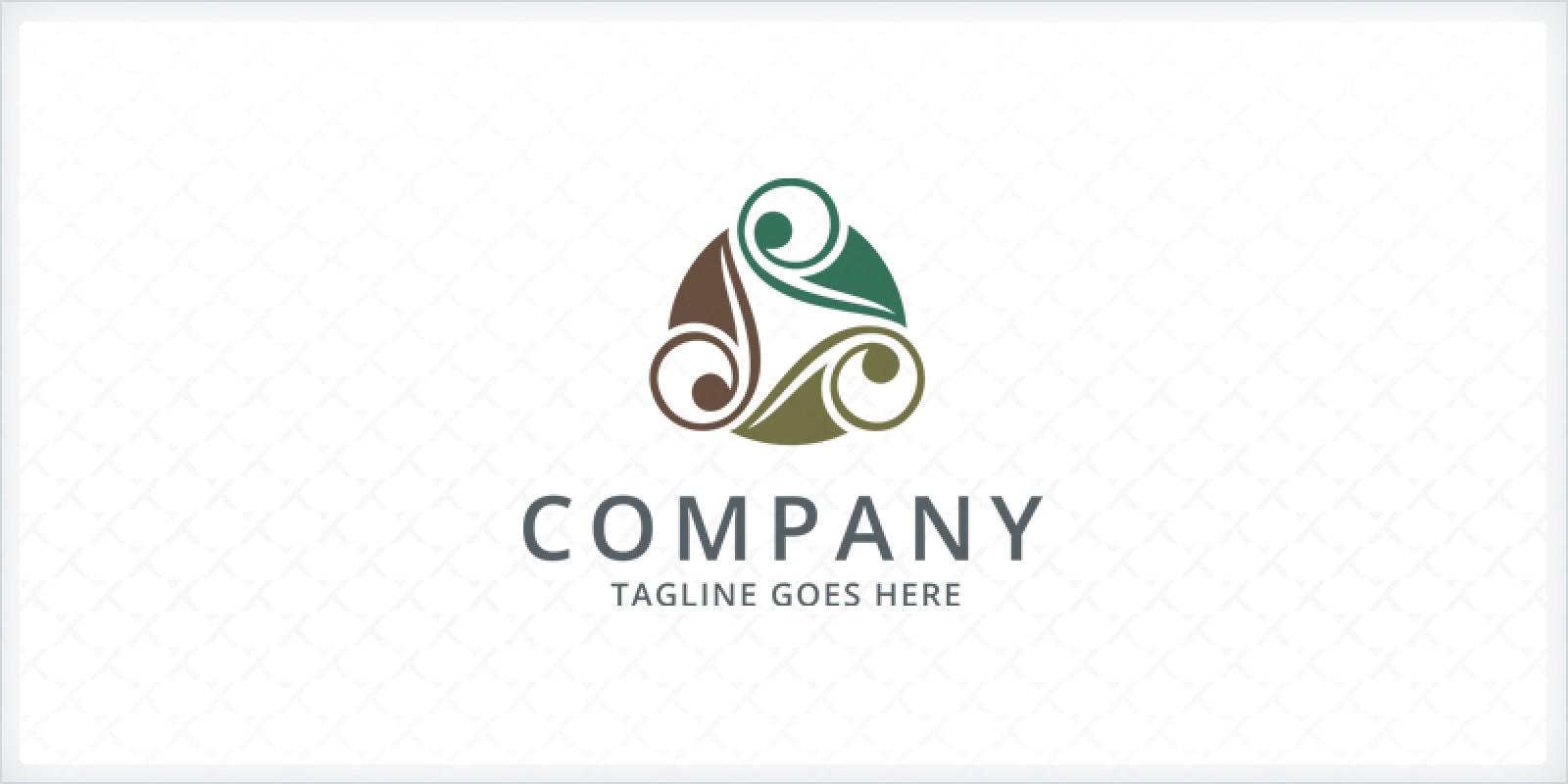 Ornamental Foliage Logo Template
