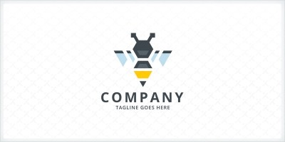 Pen Bee Logo Template