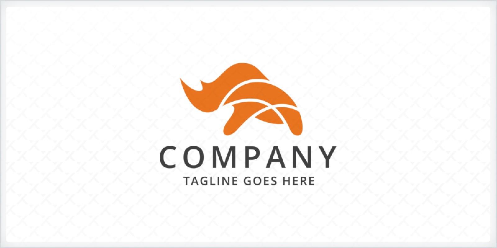 rhino logo template codester