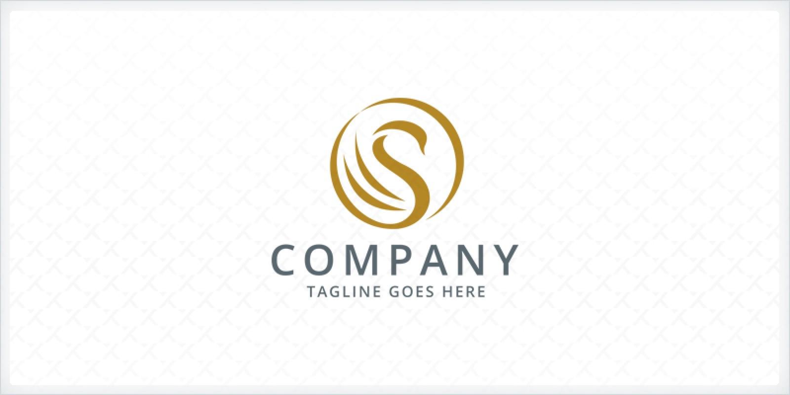 Letter S - Swan Logo Template