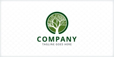 Tree Branches Logo Template