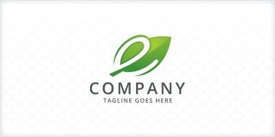 Leaf Letter E Logo Template