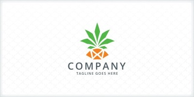 Pineapple Logo Template