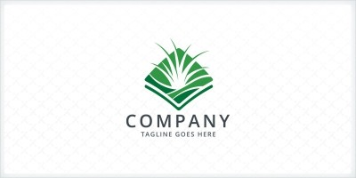 Grass Turf Lawn Care Logo Template