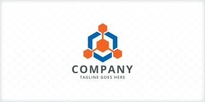 Hexagon Connect Logo Template