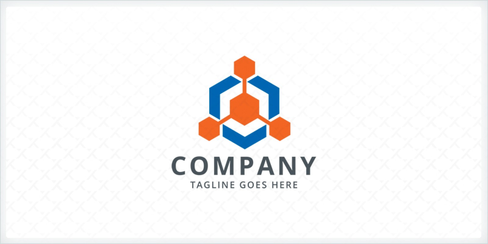 Hexagon Connect Logo Template