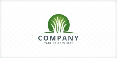 Artificial Grass Logo Template