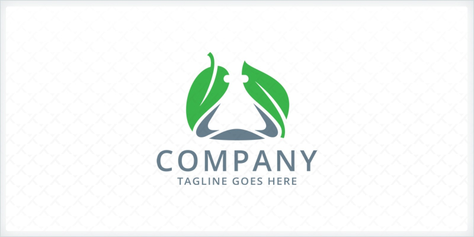 Flask and Leaves - Laboratory Logo Template