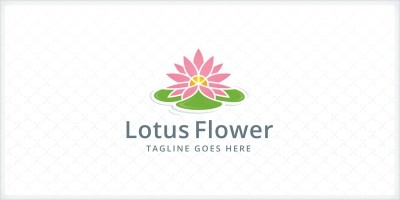 Lotus Flower Logo Template