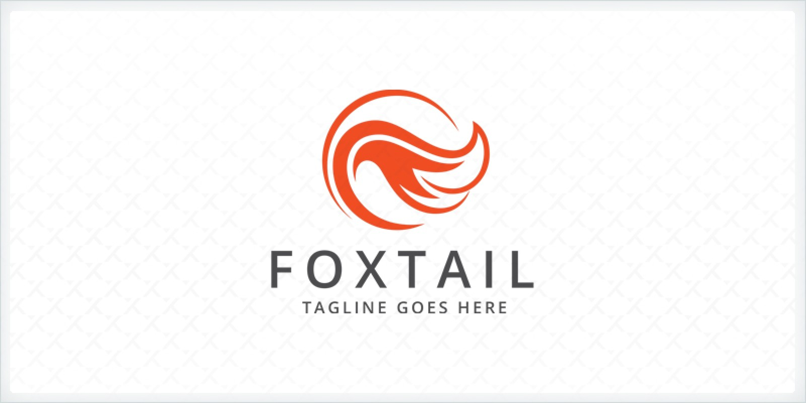 Fox Tail Logo Template