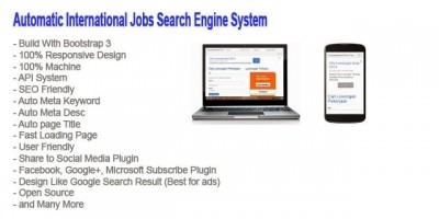 Jobs Search Engine System PHP Script