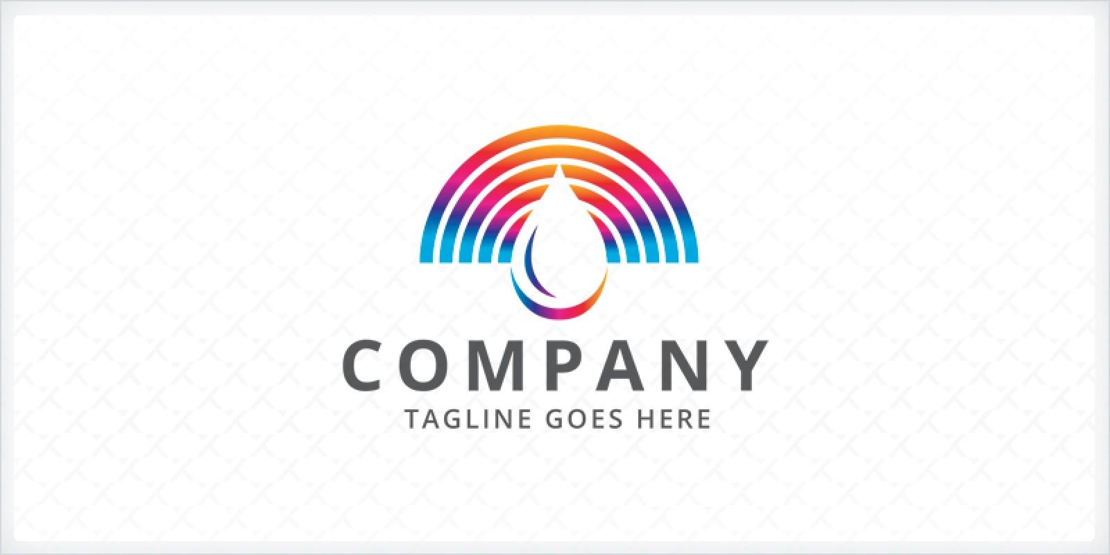 Spectrum Water Droplet Logo Template
