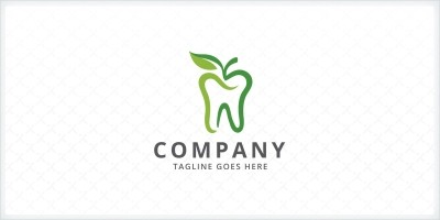 Apple Tooth - Dental Logo Template