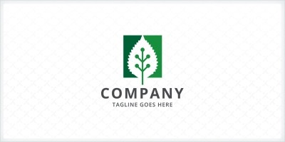 Green Leaf Technology Logo Template