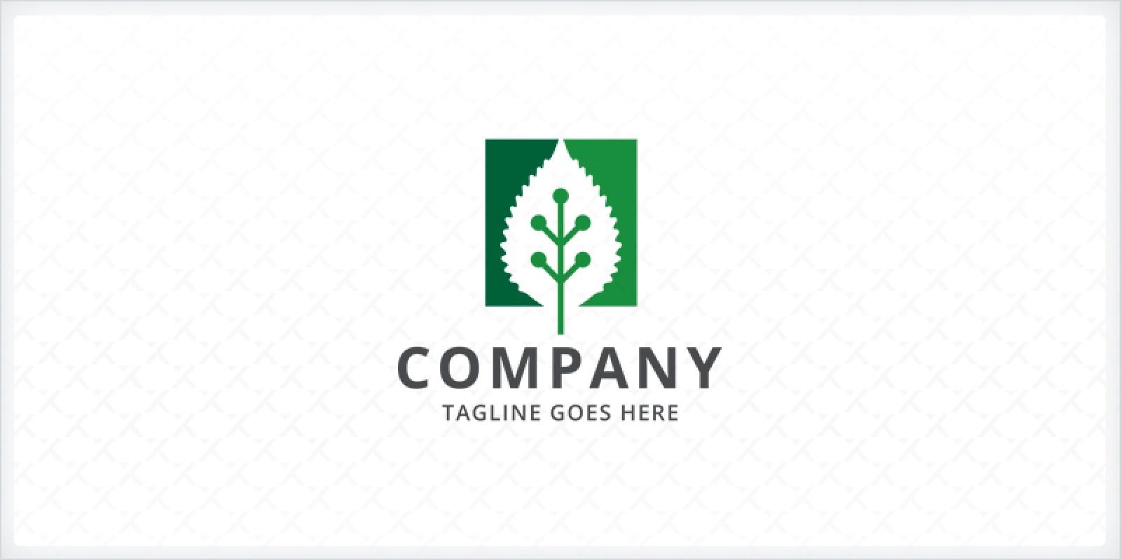 Green Leaf Technology Logo Template