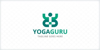 Yoga Guru - People Logo Template