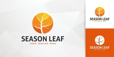 Season Leaf Logo Template