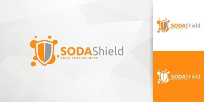 Soda Shield Logo Template