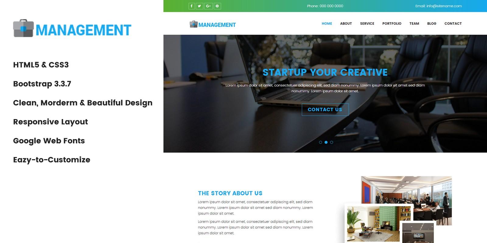 Management - HTML Website Template