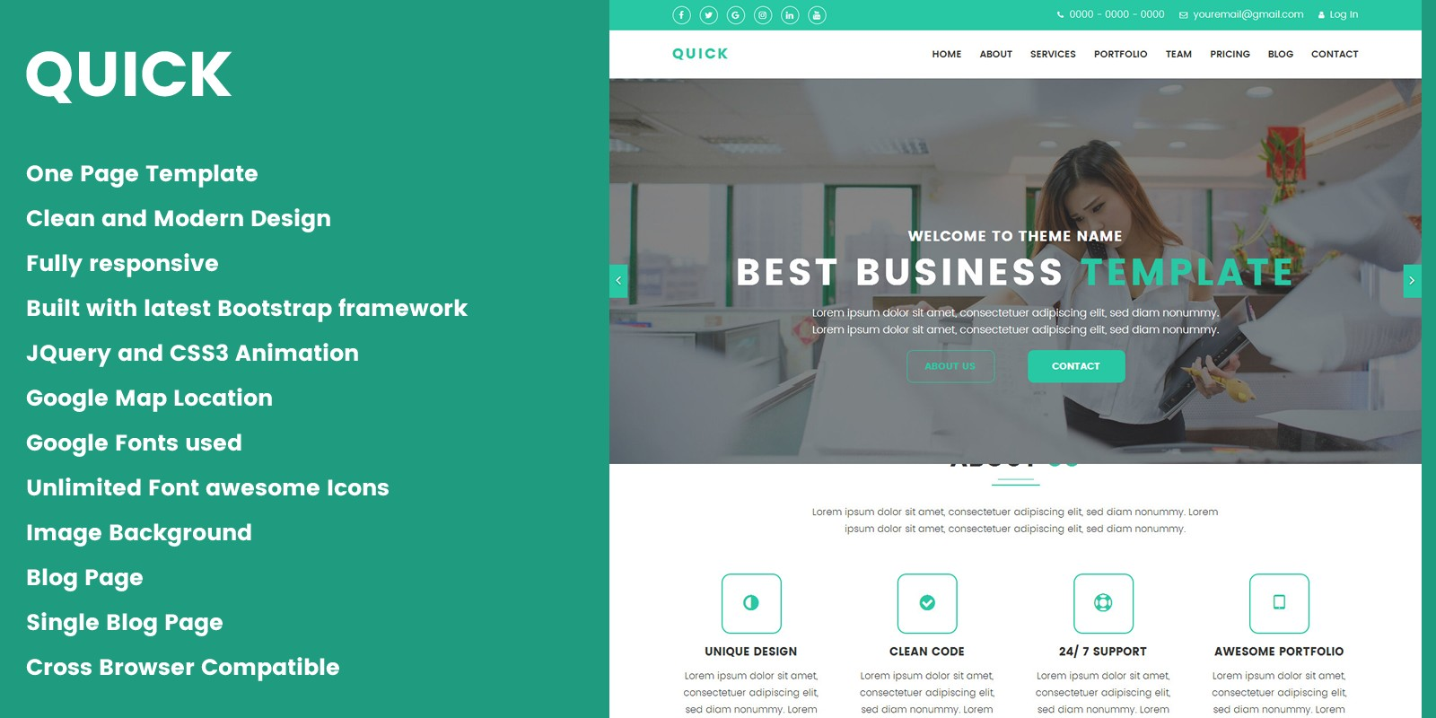 Quick - Creative Design Agency HTML Template