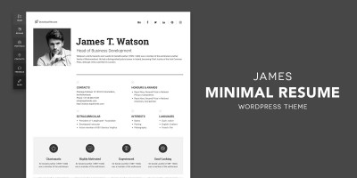 James - Resume & Portfolio WordPress