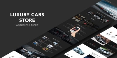 Luxury Cars Store WordPress theme