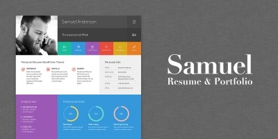 Samuel - Resume And Portfolio WordPress Theme