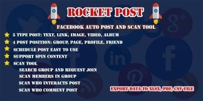 Rocket Post - Facebook Auto Post Script
