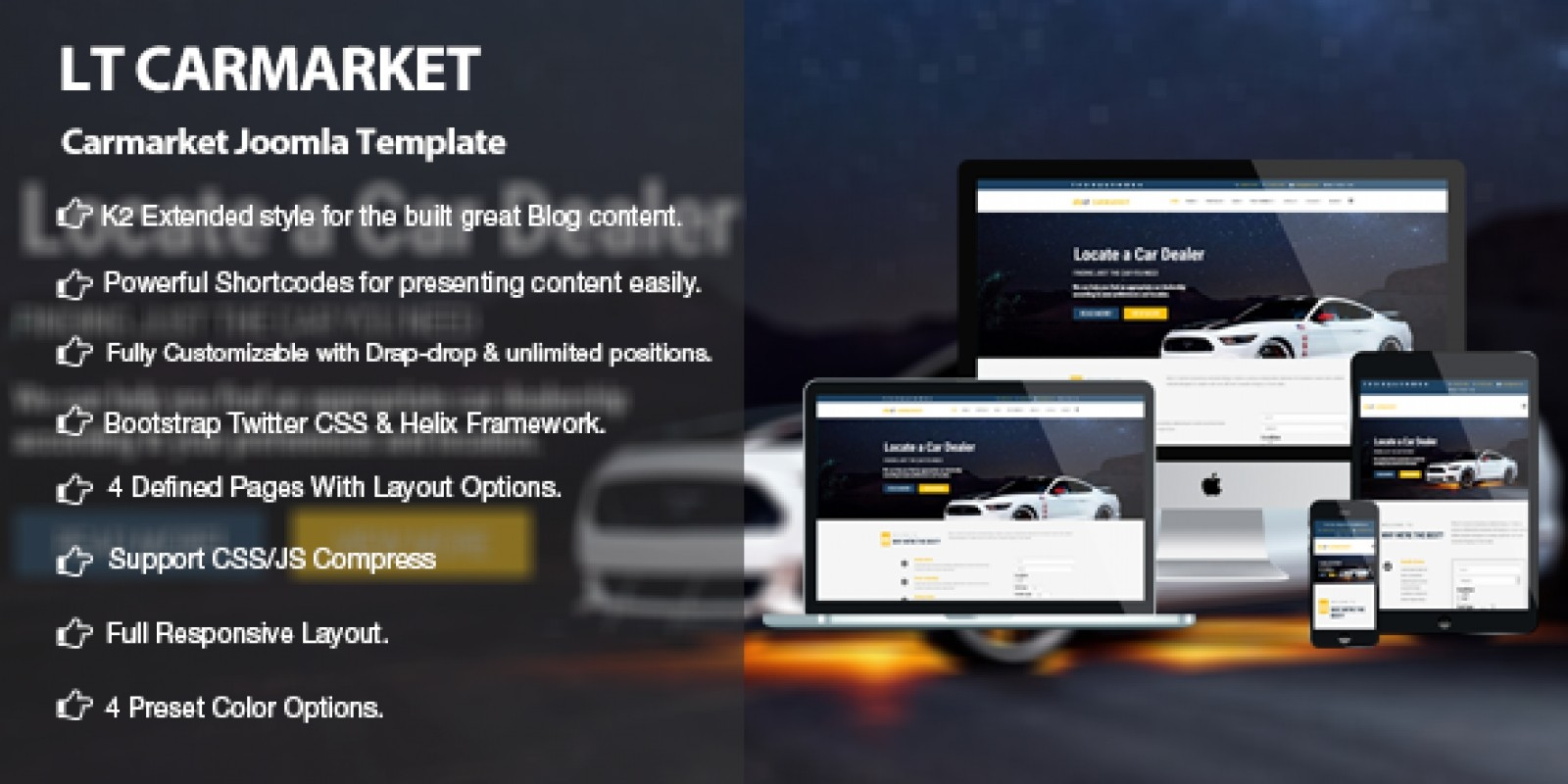 LT Carmarket -  Car Dealer Joomla Template