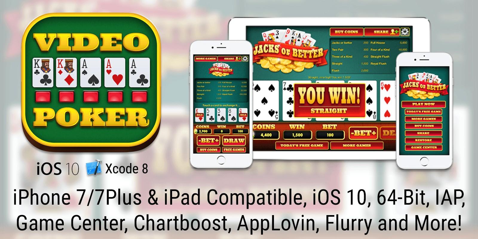 Video Poker - Jacks or Better for iOS 8