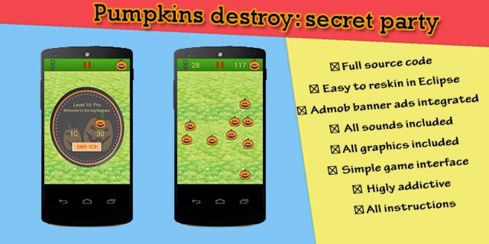 Pumpkins destroy - Android Game Source Code