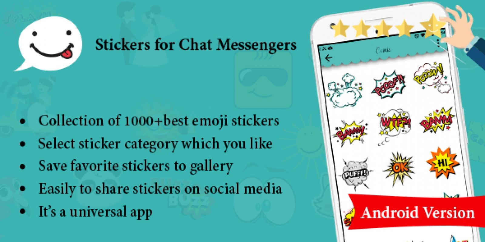 Stickers For Chat Messengers Android App