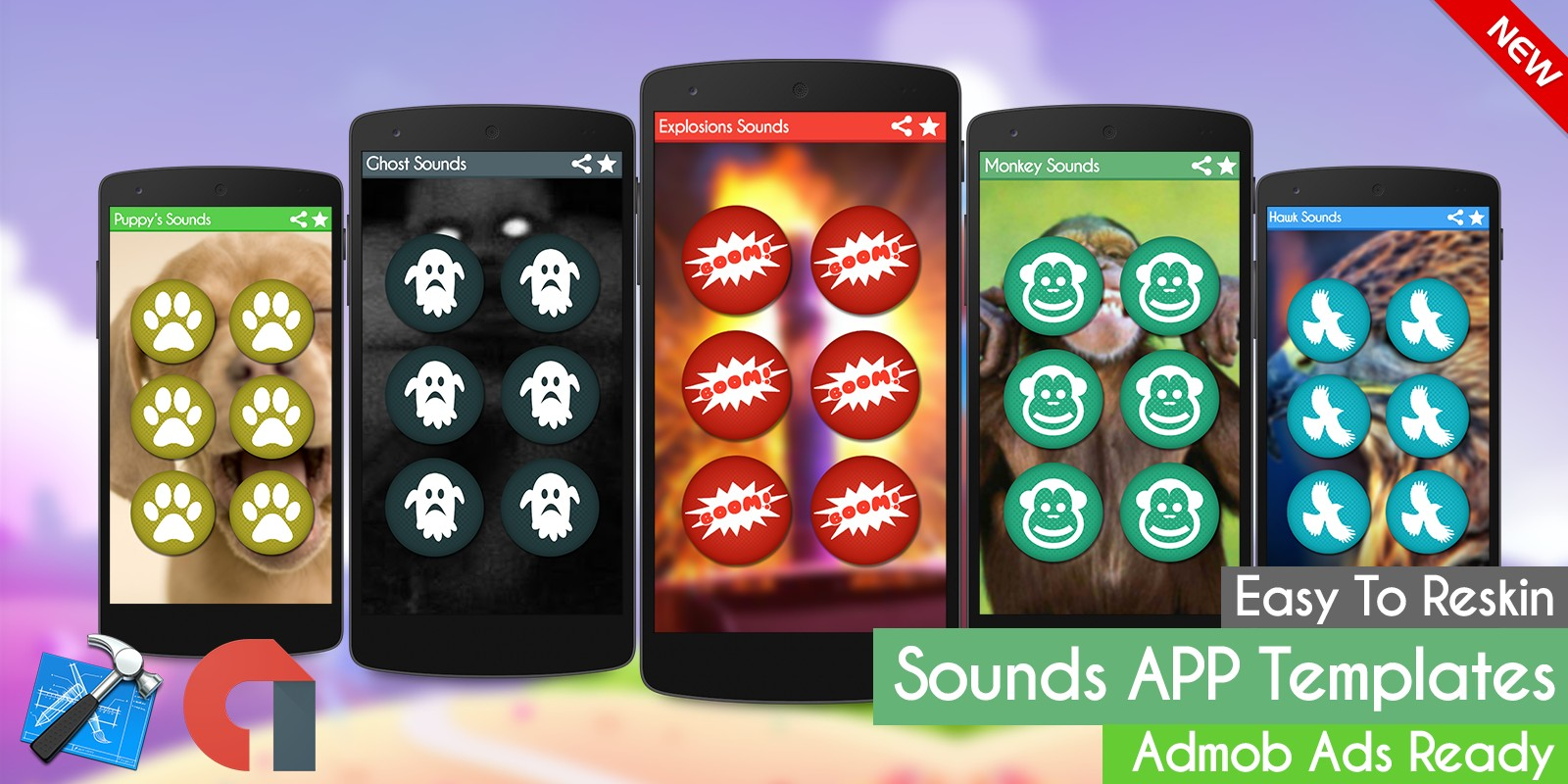 Explosions Sounds - iOS Xcode App Template - iOS App Templates ...