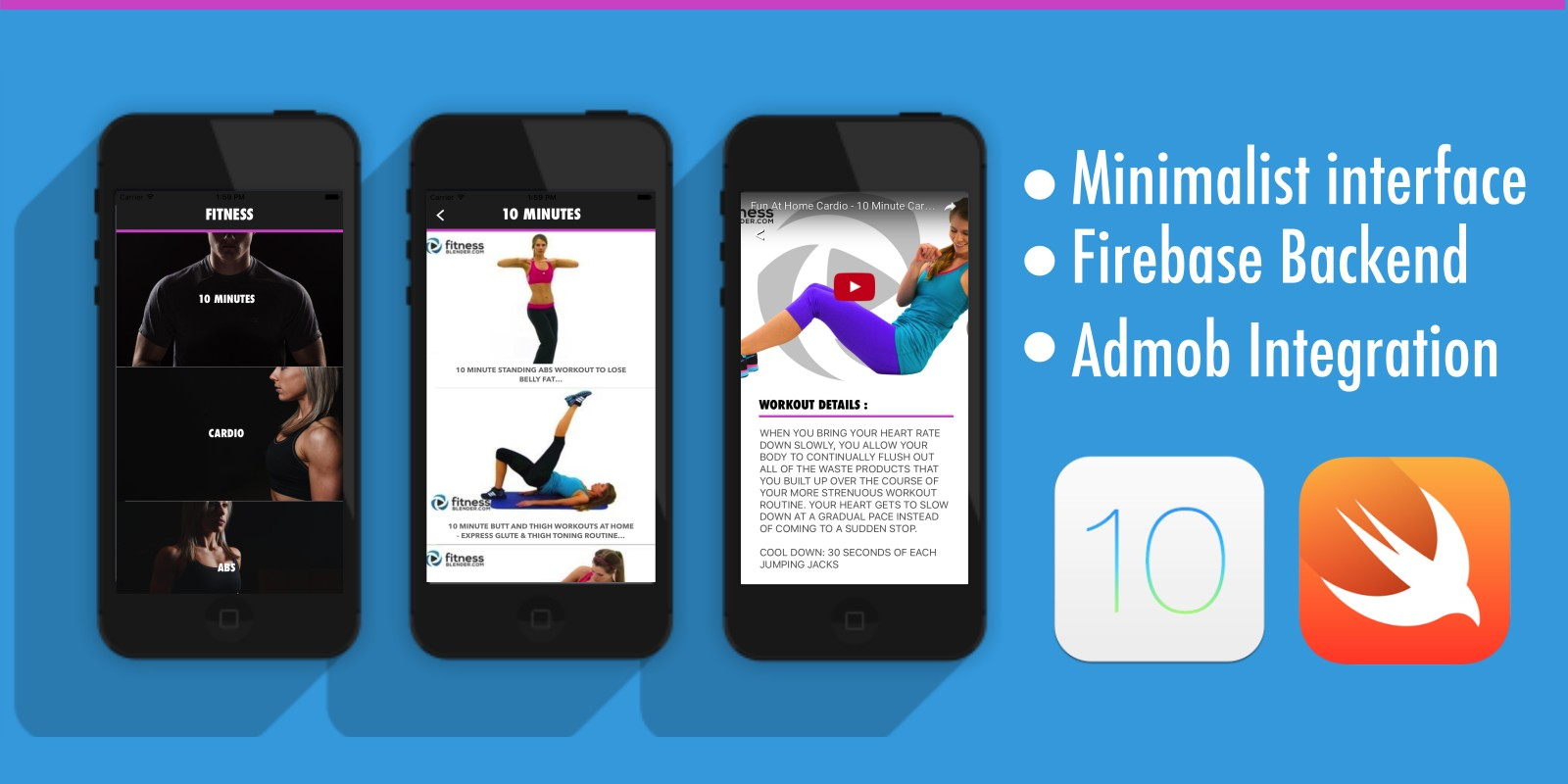 Fitness App - iOS Source Code With Firebase Backen