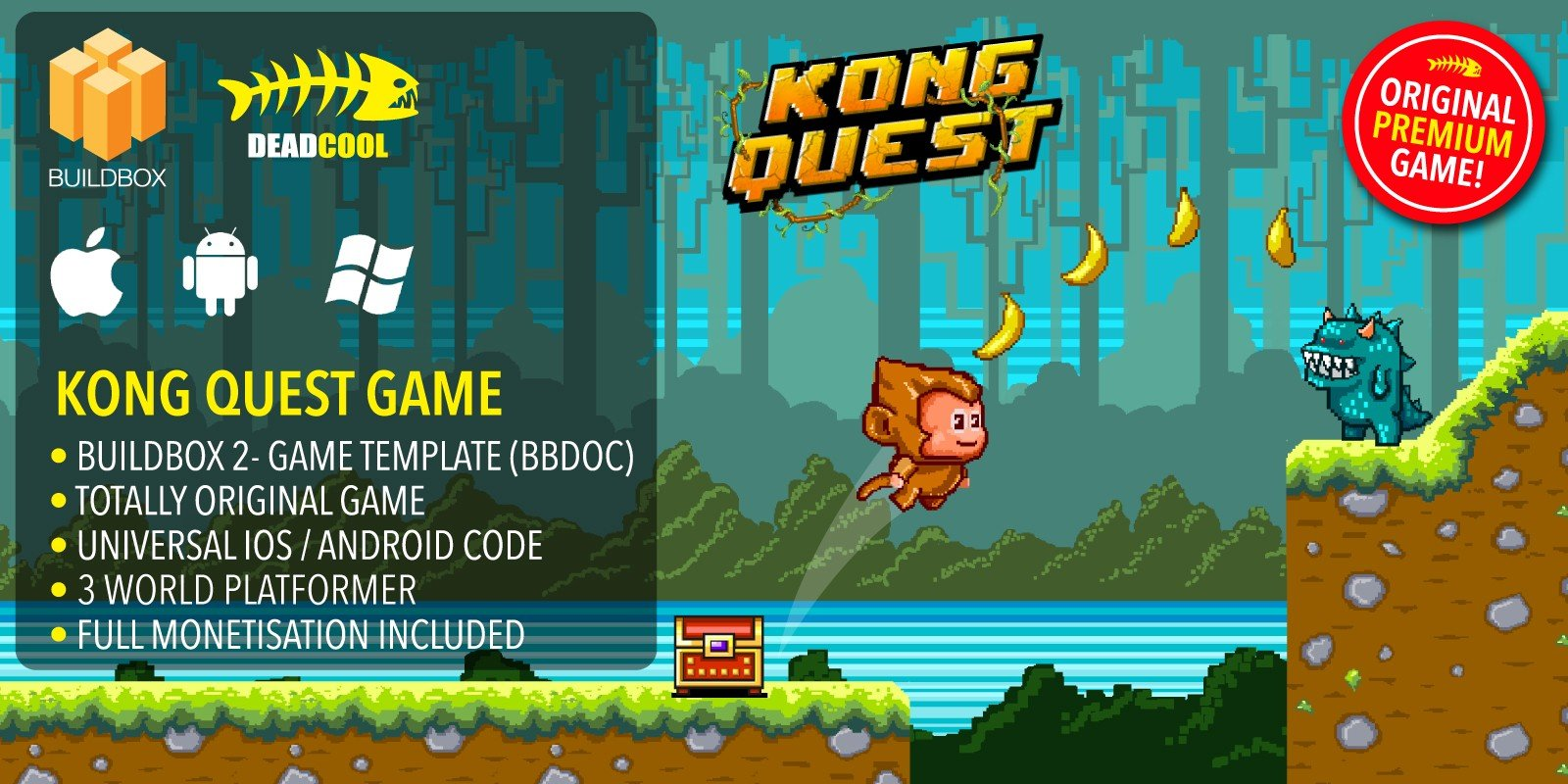 Kong Quest - BuildBox Game Template