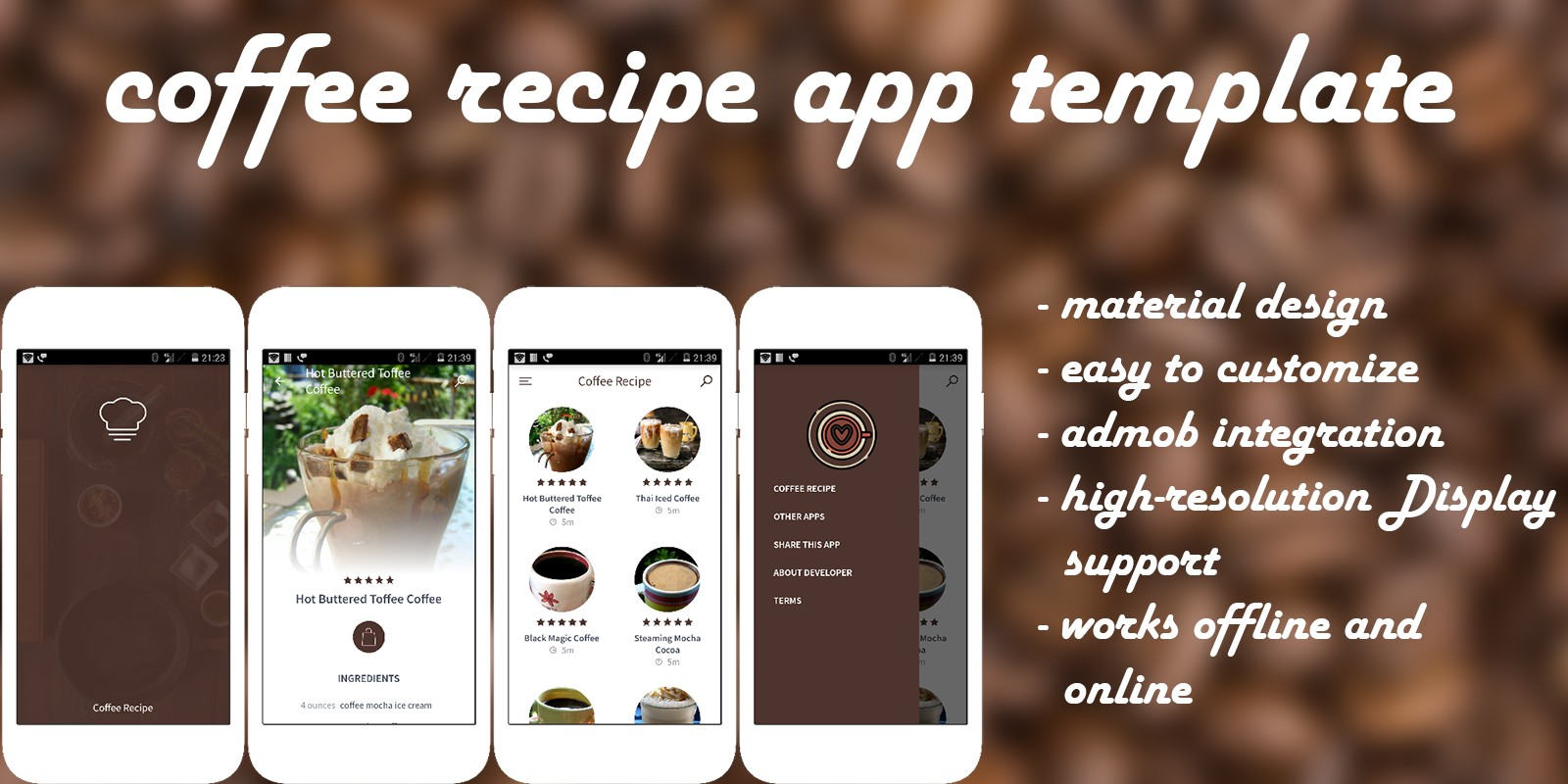 Coffee recipe android recipe app template food app templates for coffee recipe android recipe app template forumfinder Image collections