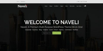 Naveli - Multi-purpose Responsive WordPress Theme