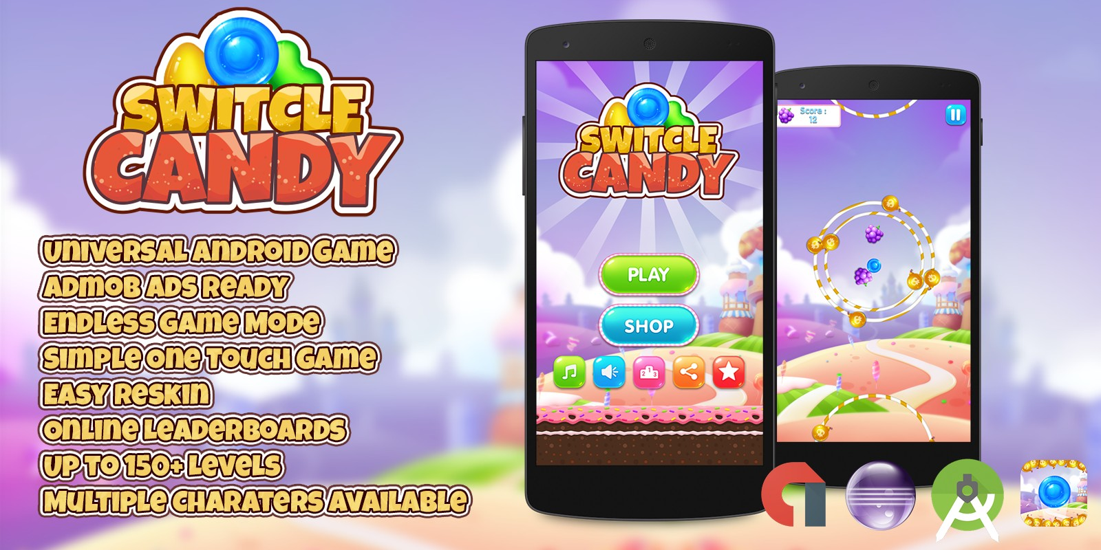 Switcle Candy - Android Game Template
