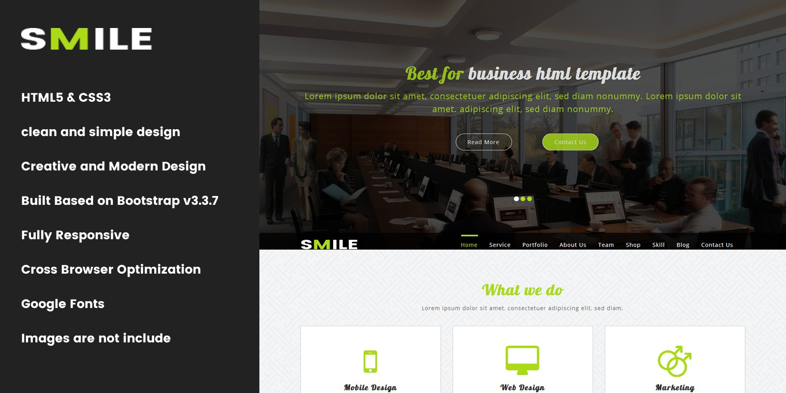Smile onepage parallax business template business html website smile onepage parallax business template wajeb Choice Image