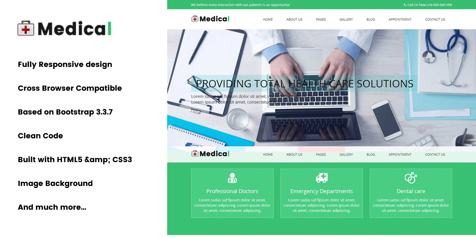 Medical - HTML Web Template - HTML Health & Wellness Website ...